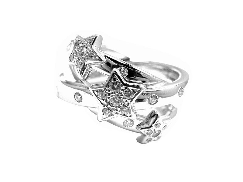 Chanel Comete star diamond ring mounted on white gold ~ CHF 5'920