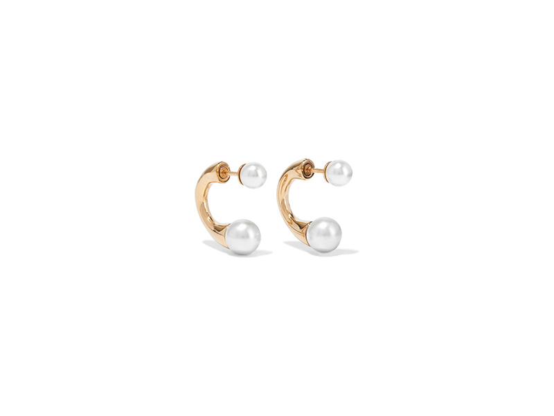 Chloé Darcey gold-tone with faux pearl earrings 188 €