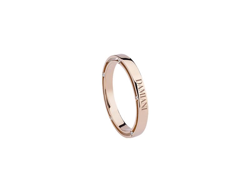 Damiani Rose gold and diamonds wedding band 1140 chf
