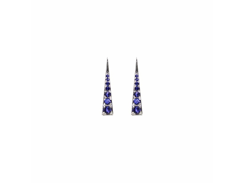 Daou Jewellery Spark earrings iolite mounted on white gold with iolite semi-precious gemstones - 1200 £
