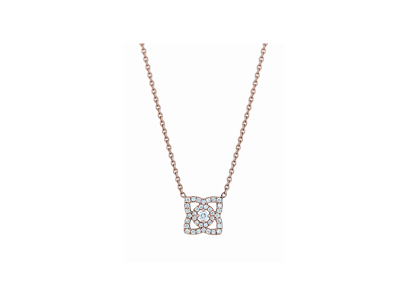 De Beers  Enchanted Lotus Pink Gold Pendant 1650 €