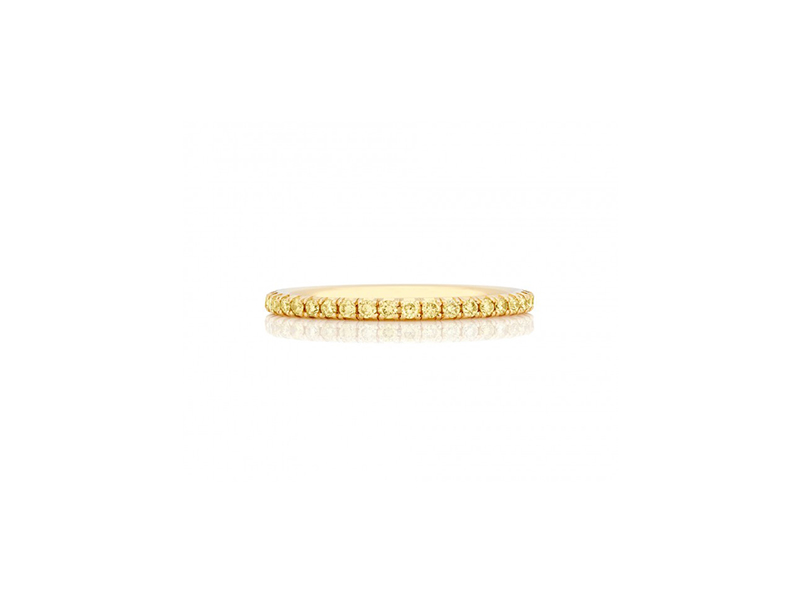De Beers From De Beers Aura collection band set with yellow round brilliant diamonds in yellow gold 2450 $