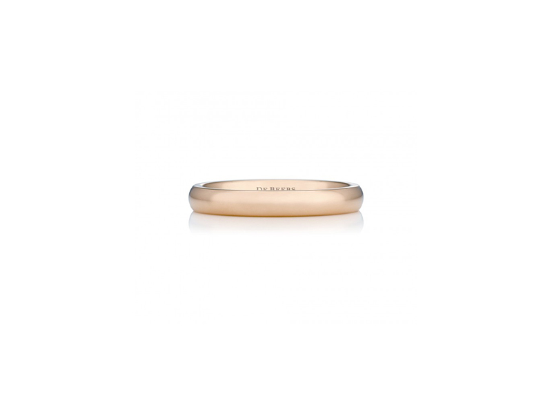 De Beers Wide court pink gold band 750 $