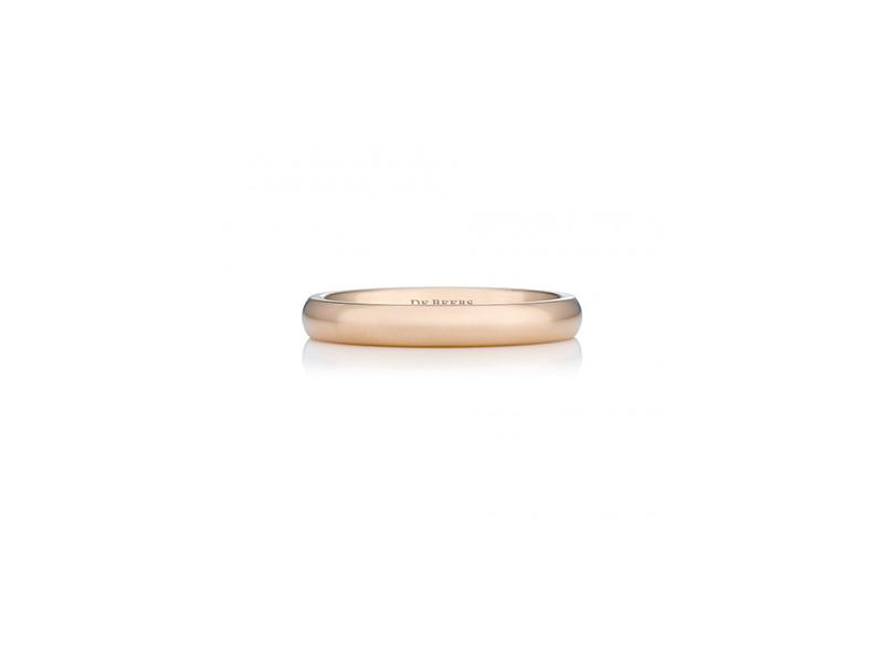 De Beers Wide court pink gold band 750 $