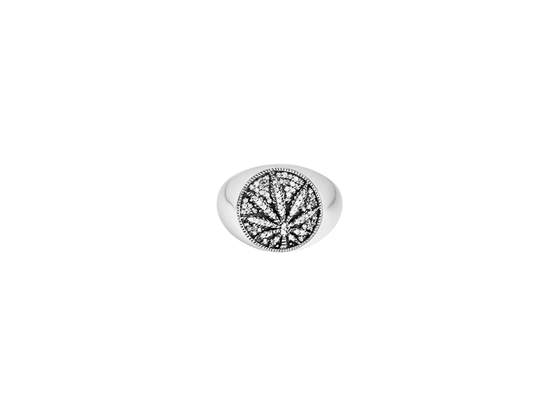 De Jeagher fancy delight ring in silver and white diamonds 845 €