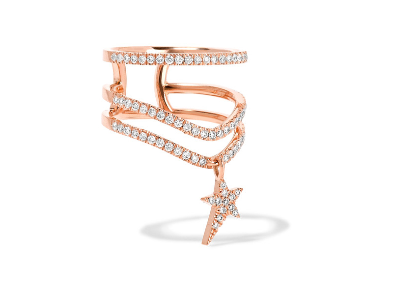Diane Kordas Ring mounted on rose gold with diamonds ~ 3'179 €