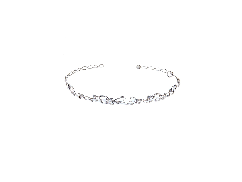Diane Kordas vine choker with diamonds mounted on black gold with white diamonds 10150 £
