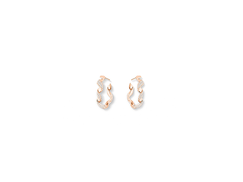 Dior archi dior earrings mounted on rose gold with diamonds - 8400 €