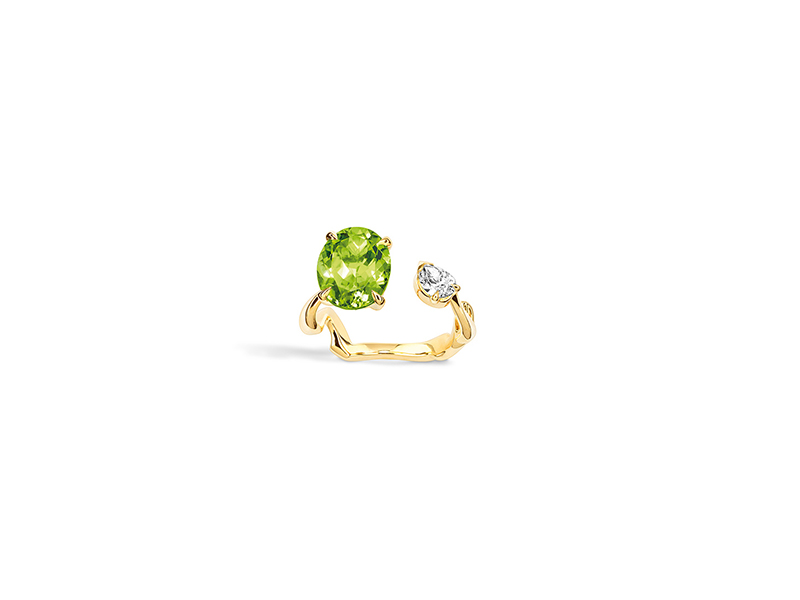 Dior Diorama precieuse yellow gold and diamond peridot