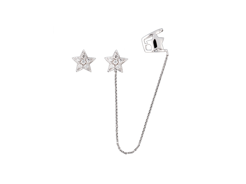 Djula Star earrings mounted on gold with diamonds 1200 €