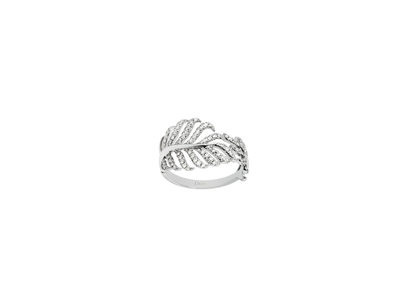 Djula Feather ring white gold diamonds 1995€