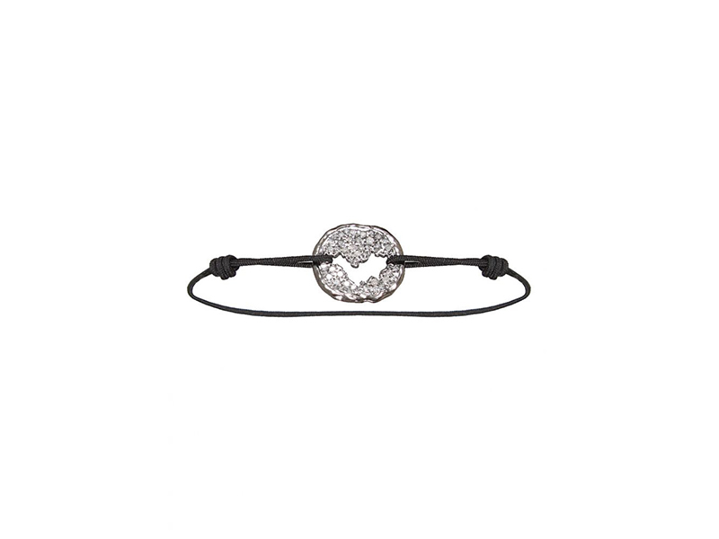 Dominique Elie Black gold and grey diamonds saint barth love sign bracelet - 1'450 €