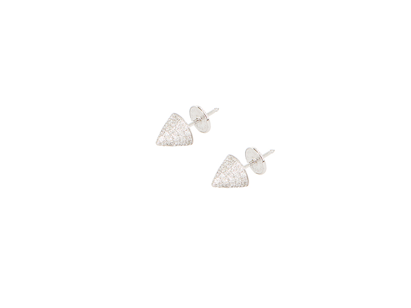 Elise Dray Muse earrings mounted on white gold with grey diamonds 1825 €