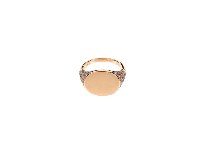 Elise Dray Rose gold and diamonds signet ring 3225 €