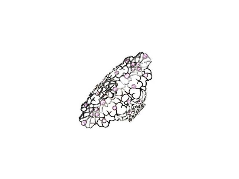 Ere by Repossi Pink sapphire black gold cuff bracelet 23000€