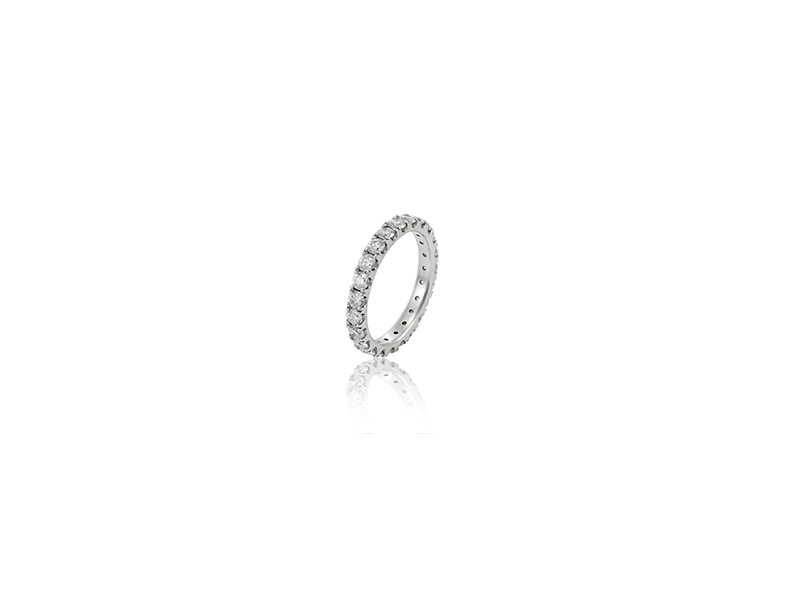 Eternal by mondial luna ring white gold with diamonds
