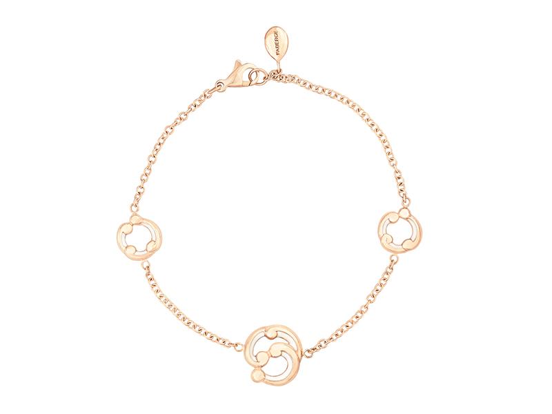 Fabergé Rococo White Enamel Rose Gold Bracelet