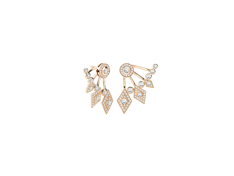 Garrard TwentyFour earrings mounted on yellow gold with white diamonds
