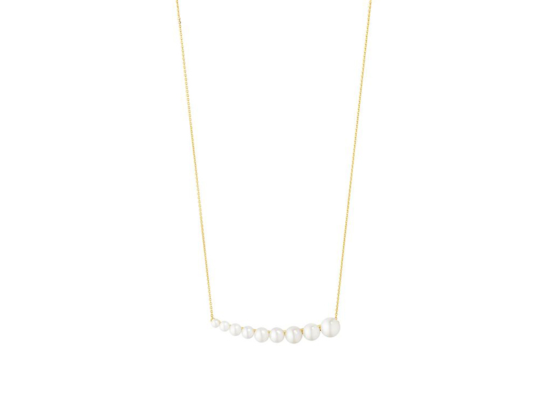 Georg Jensen Neva pearl necklace mounted on yellow gold 1'080€