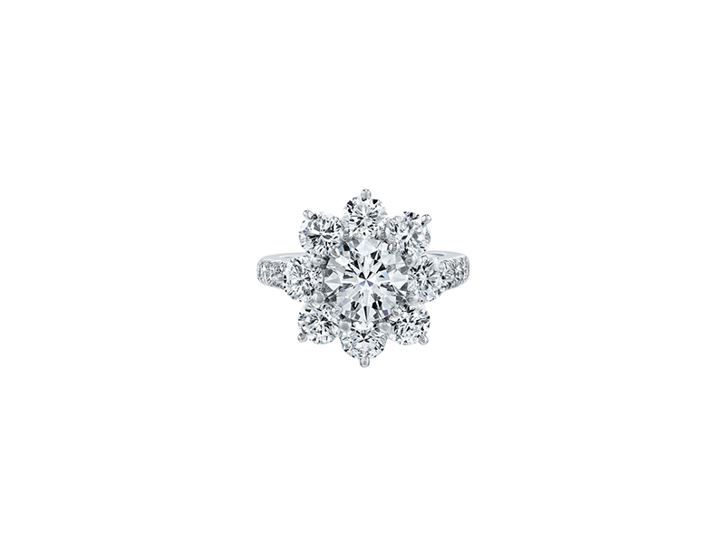 Harry Winston   Sunflower Large Diamond Ring