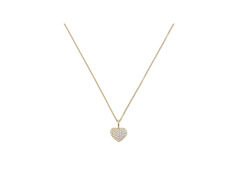 Harry Winston Heart charm mounted on yellow gold with diamonds