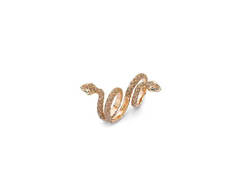 Henri Sillam Ring double snake
