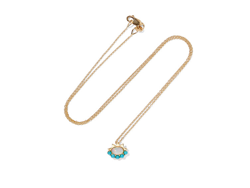 Ileana Makri Gold with opal and turquoise 753 €