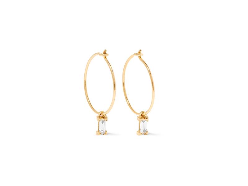 Ileana Makri Hoop earrings mounted on gold with diamonds 1'130£