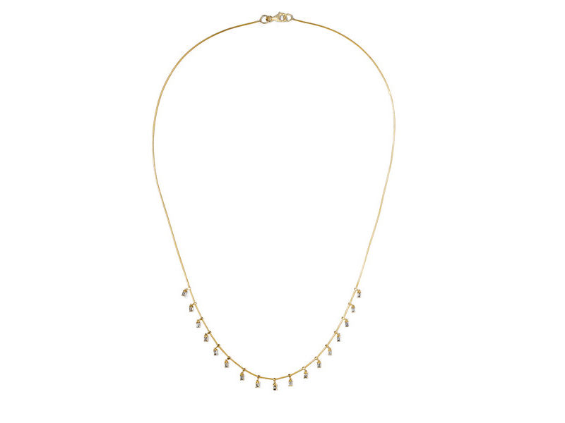 Ileana Makri Necklace mounted on gold with baguette diamonds - 3'950 €