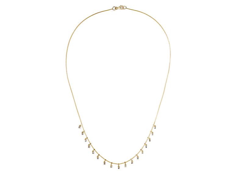 Ileana Makri Necklace mounted on gold with baguette diamonds - 3'950€