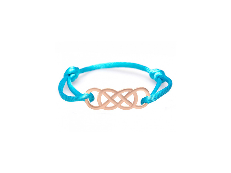 Infinity by Victoria Ibiza pink gold in turquoise
