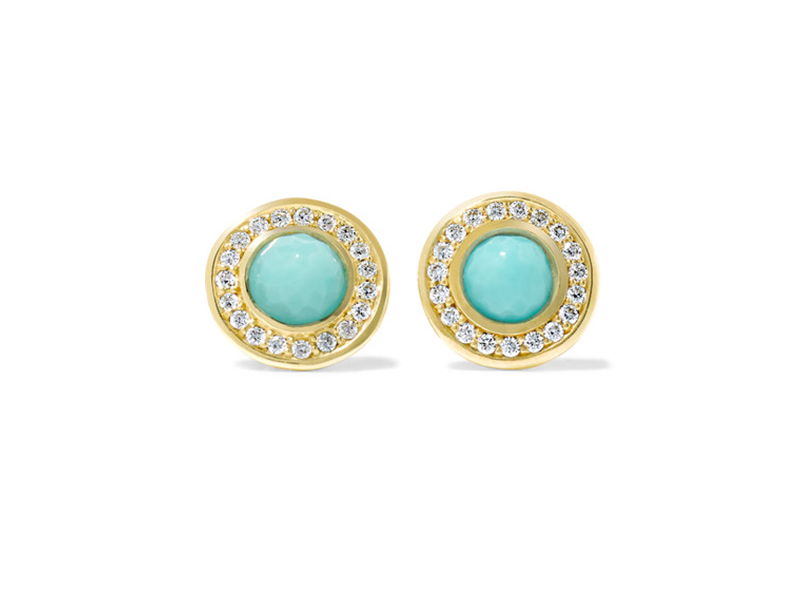 Ippolita Lollipop gold turquoise and diamond earrings 867 €