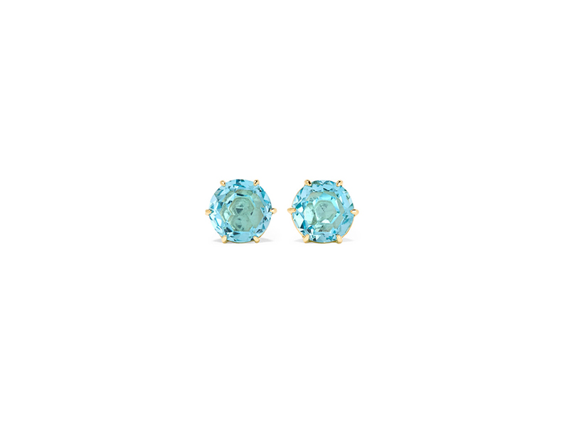 Ippolita Rock candy earrings mounted on gold with topaz - 811 €