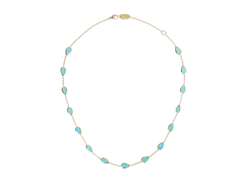 Ippolita Rock candy mounted on gold with turquoise 2'283 €