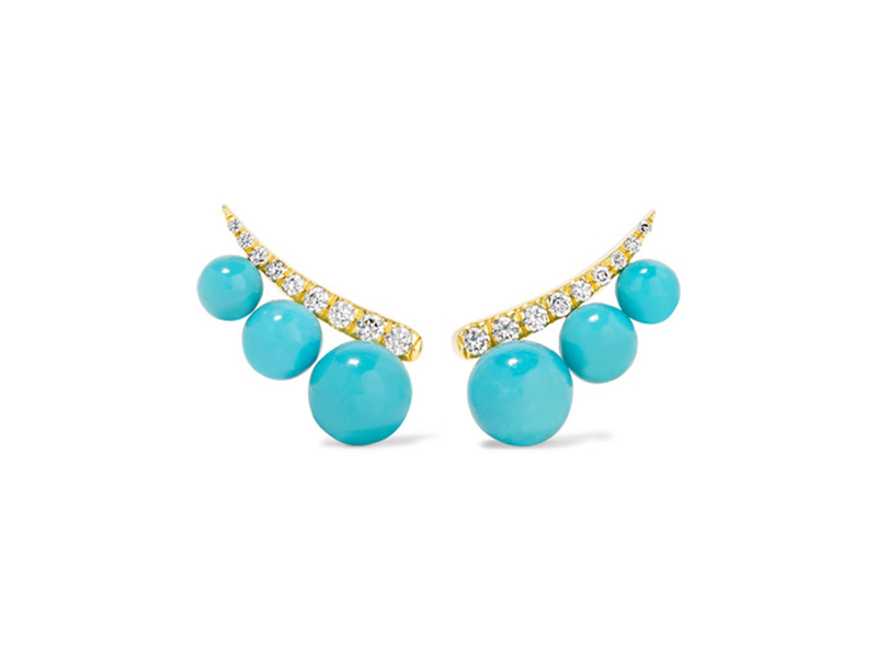 Jemma Wynne turquoise and diamond earrings 2'797 €