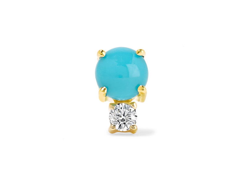 Jemma Wynne 18-Karat gold with turquoise and diamond earring 451 €