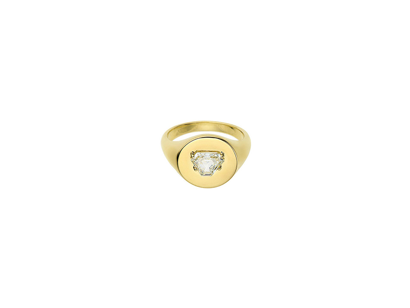 Jemmy Wynne Prive diamond shield yellow gold shield shaped diamond