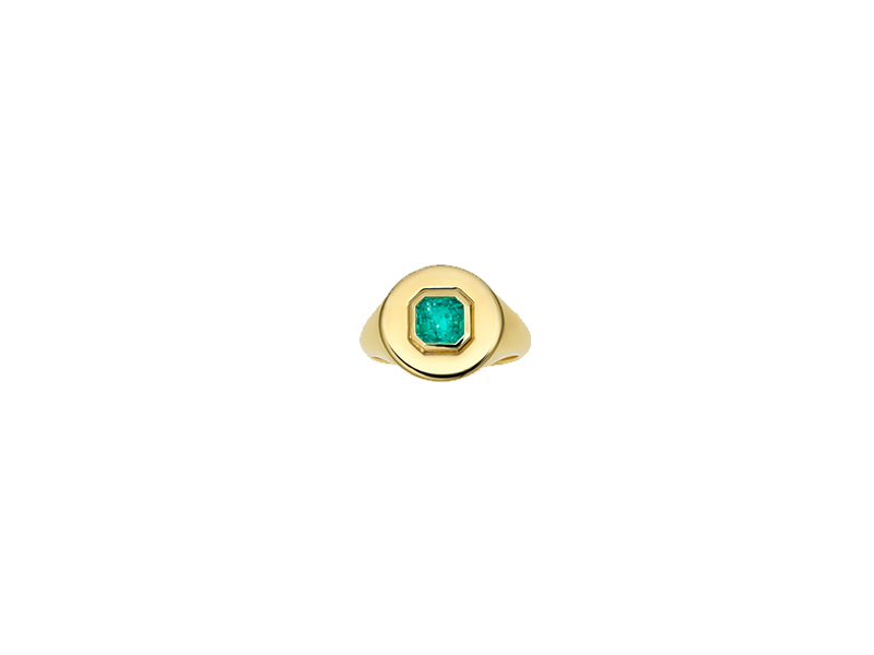 Jemmy Wynne Prive emerald yellow gold and emerald square