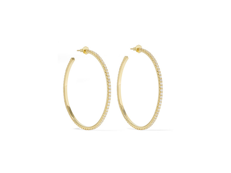 Jennifer Meyer Yellow gold and diamonds hoops