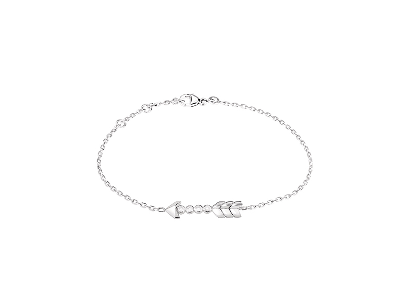 Lalique Flèche d'eros bracelet mounted on white gold with diamonds - 1100 €