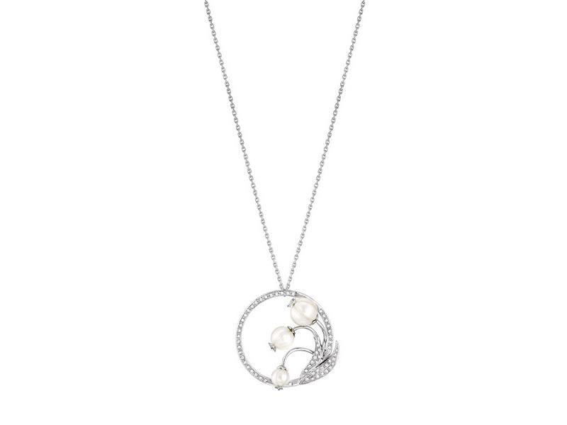 Lalique Muguet pearl & diamond pendant necklace 8'300 $