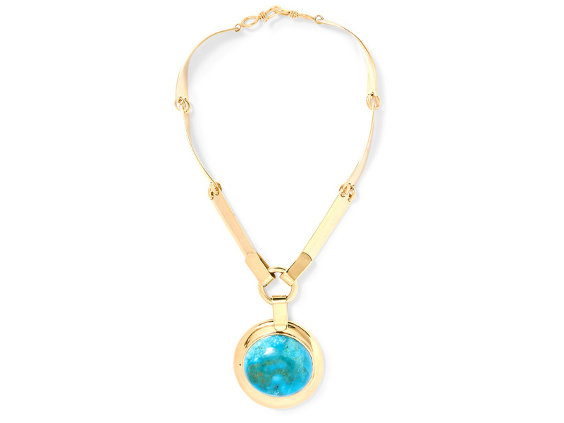 Lisa Eisner Eyeball gold-tone turquoise necklace 3'951 €