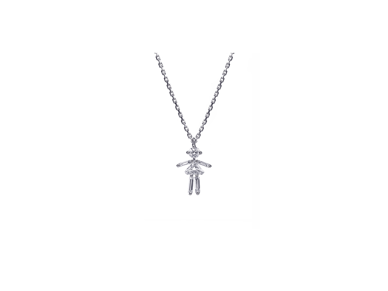 Little Ones Mounted on white gold with diamonds