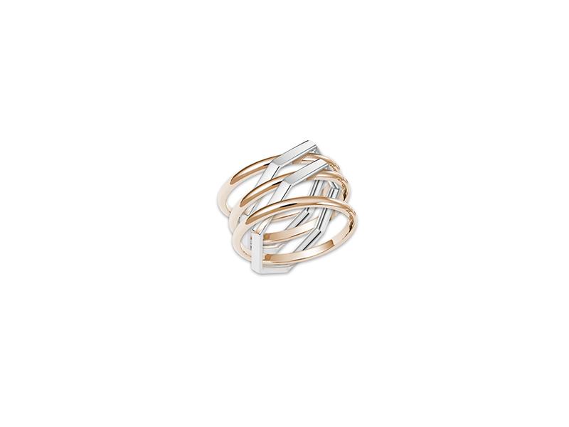 Lorenz Baumer Mega lorenz ring mounted on rose gold with white gold 2900€