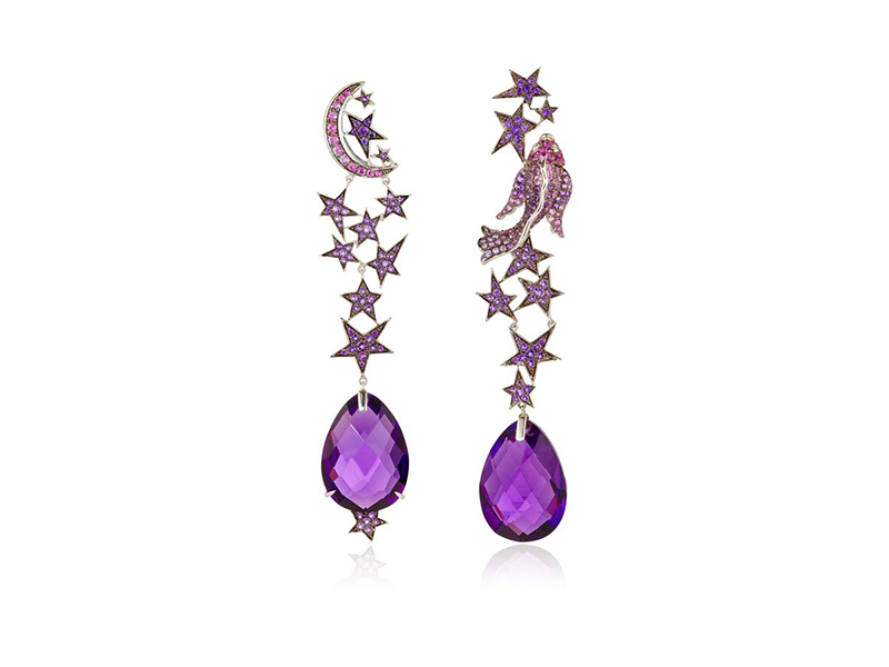 Lydia Courteille Zodiac collection earrings