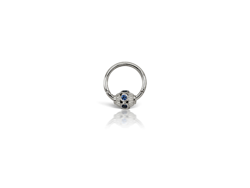Maria Tash Blue sapphire indian bead ring - 275 $