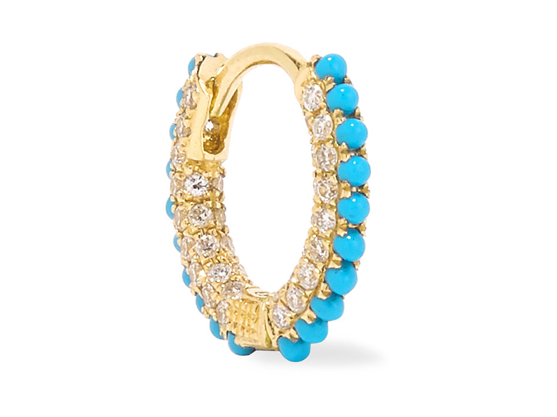 Maria Tash Gold, diamond and turquoise earring 873 €