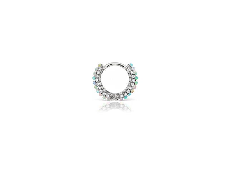 Maria Tash Opal and diamond five row pavering - 1100 $