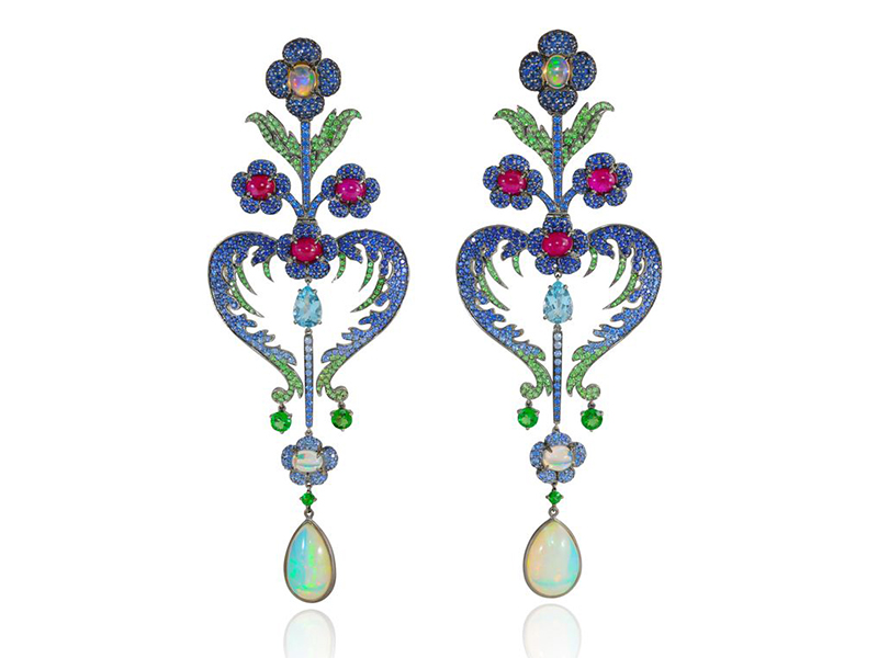 Lydia Courteille Topkapi earrings