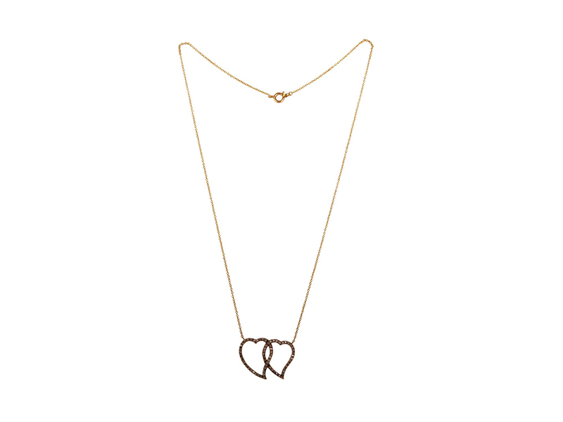 Melody Rosdgers Double entwined hear necklace